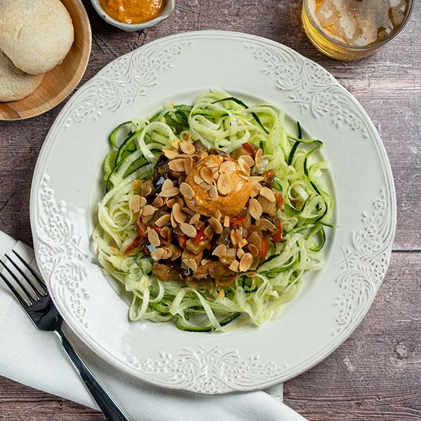 menu veggie Espaguetis calabacin