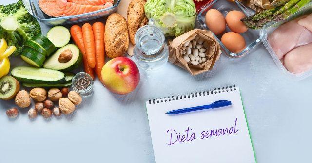 Menu semanal dieta saludable