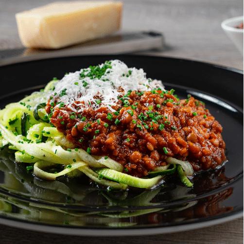 espaguetis de calabacin dieta basada en plantas